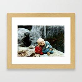 Mini Buddha Framed Art Print