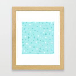 AFE Turquoise Snowflakes Framed Art Print