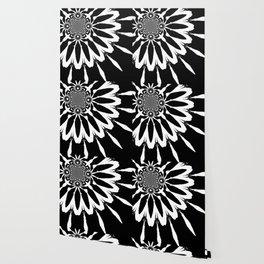 The Modern Flower Black & White Wallpaper