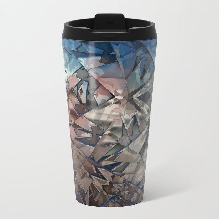 Shattered Metal Travel Mug