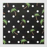 palm trees Canvas Prints featuring Palm Trees by BTP Designs
