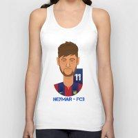 neymar Tank Tops featuring Neymar Barcelona by Sport_Designs