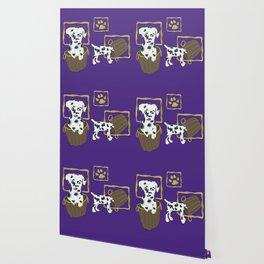 Purple puppy antics | Puppies at play Wallpaper