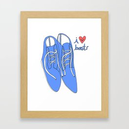 BLUE BOOTS I HEART Framed Art Print
