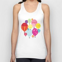 hot air balloons Tank Tops featuring Hot air balloons by Tat Georgieva