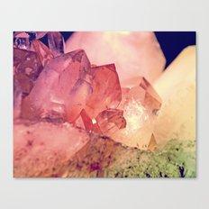 Quartz Mineral Gem Cluster Canvas Print