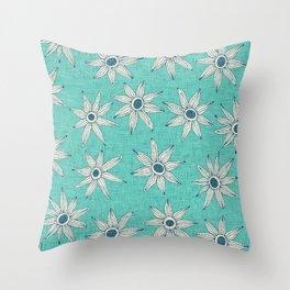 sema mint blue Throw Pillow