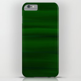 Emerald Green and Black Abstract iPhone Case