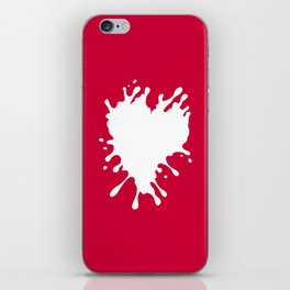 Splatter Heart iPhone Skin
