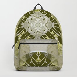 Microchip Mandala in Gold Backpack