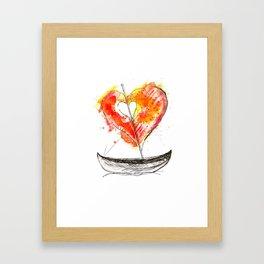 love boat Framed Art Print