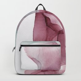 Red and Faded Green ink Abstract Backpack