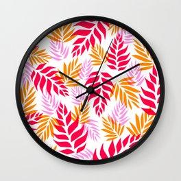 Floral Abstract 01 Wall Clock