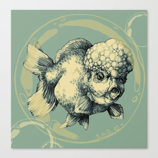 Bubble Head Fish Canvas Print