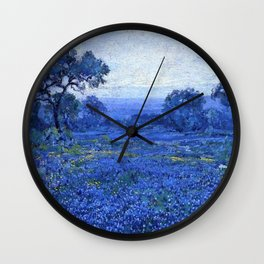Bluebonnet pastoral scene landscape painting by Robert Julian Onderdonk Wall Clock