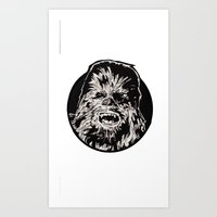 chewbacca Art Prints featuring Chewbacca by LaurenNoakes