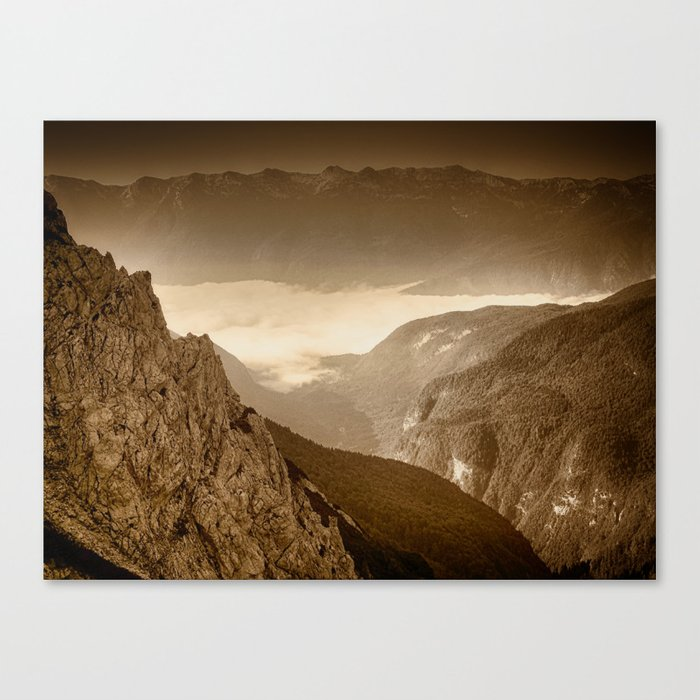 Afternoon Walk in the Hills Canvas Print