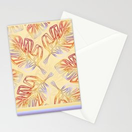 Autumn Leaves with trim on Buttercream - from the Lilac Buttercup colour palette collecti Stationery Cards
