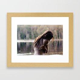 brittle. Framed Art Print