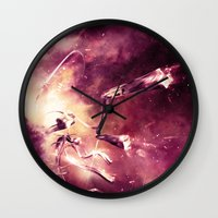 abyss Wall Clocks featuring Abyss by Harold Urquiola