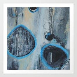 Blue Amnesia Art Print