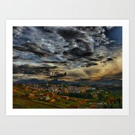 Clouds over São Lourenço Art Print