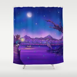 The Unexpected Visitor Shower Curtain