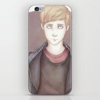 kieren walker iPhone & iPod Skins featuring In The Flesh - Kieren Walker by SerenaArtworks