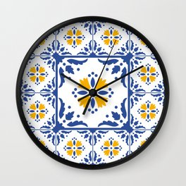 Original Portuguese tile design Wall Clock