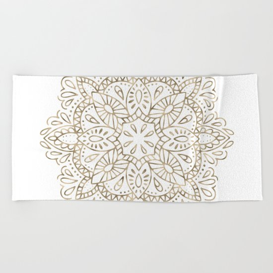 Mandala Gold Beach Towel