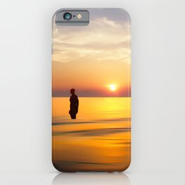 Iron Man on Crosby Beach iPhone Case