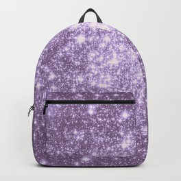 Lilac Galaxy Sparkle Stars Backpack