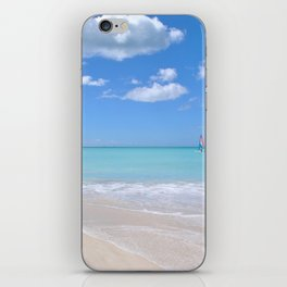 View of the sea from the beach iPhone Skin