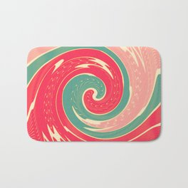 Big red wave Bath Mat