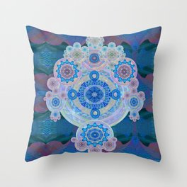 Boujee Boho Violet Glow Medallion Throw Pillow