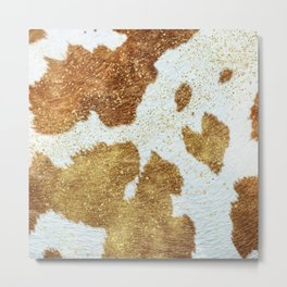 Golden Cowhide with a Heart [ii.2021] Metal Print