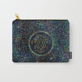 Virgo Zodiac Gold Abalone on Constellation Carry-All Pouch