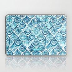 NAVY LIKE A MERMAID Fish Scales Watercolor Laptop & iPad Skin