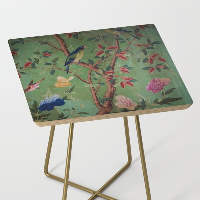 Green Dream Chinoiserie Side Table