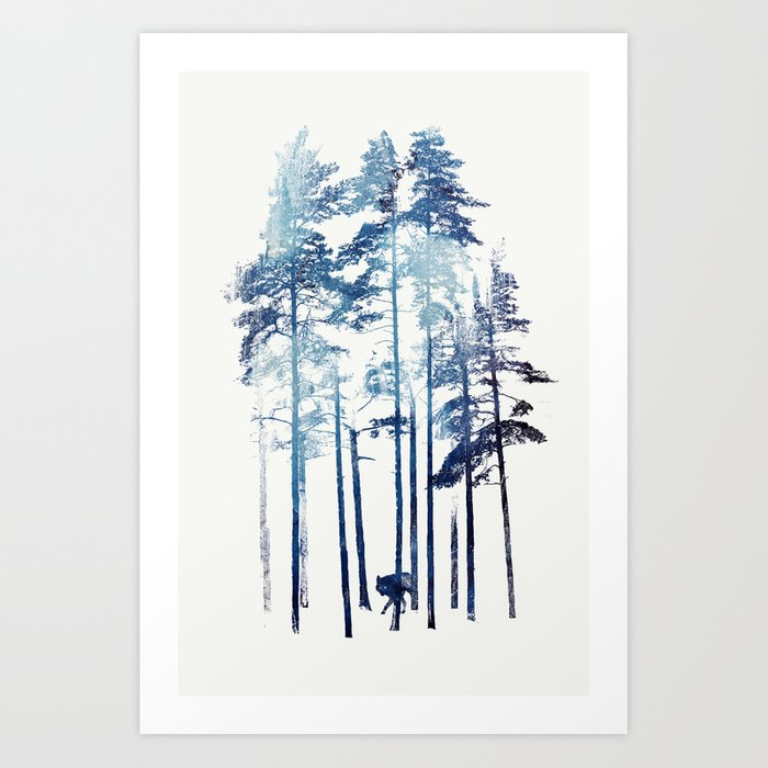 Discover the motif WINTER WOLF by Robert Farkas as a print at TOPPOSTER