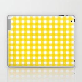 Vichy Karo Gelb Home Dekor Laptop & iPad Skin
