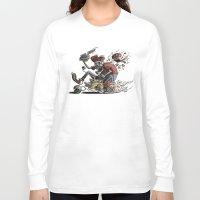 mario kart Long Sleeve T-shirts featuring Death Kart by Calakka