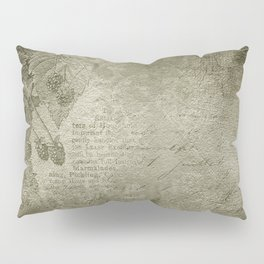 Antique Floral Vintage Grunge Grey Pillow Sham