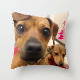 MAX and ROCKY (shelter pups) Throw Pillow