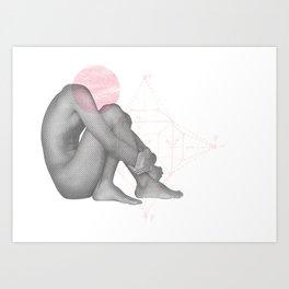 Despair - Self Portrait Art Print