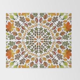 Fall Leaves Throw Blanket