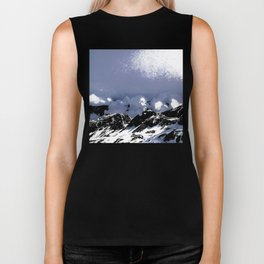 Light on mountains and clouds Biker Tank