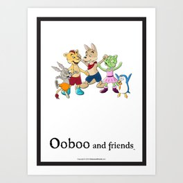Ooboo and friends Characters Art Print