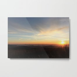 Black Balsam Knob Sunrise Metal Print