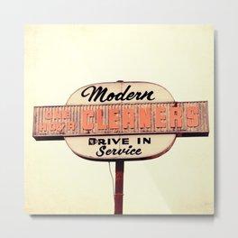 Modern Cleaners Metal Print